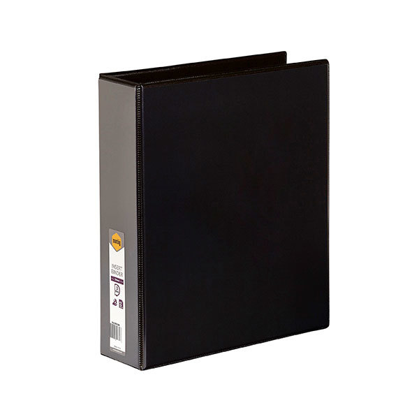 Binder Clearview Insertable A4 3 Ring D 50mm Marbig 5423002 Black