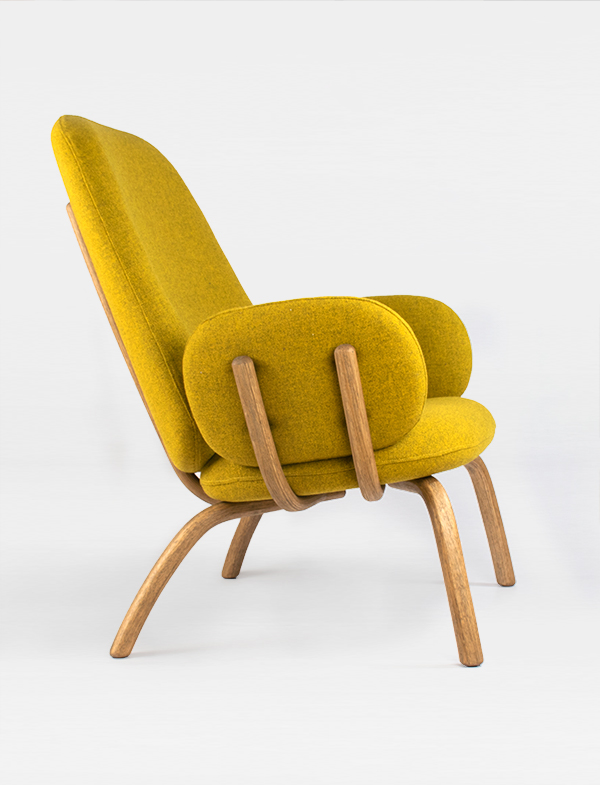 Pebble Chairs-Yellow 3:4