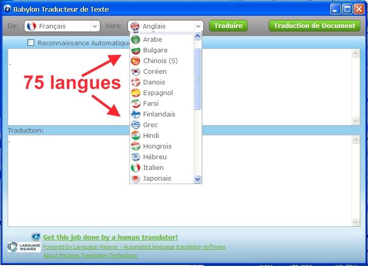 traduire cv francais vers anglais