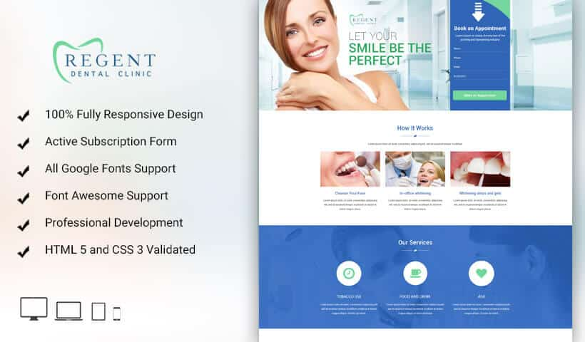 Teeth Whitening Landing Page Design Template To Sale Your Teeth