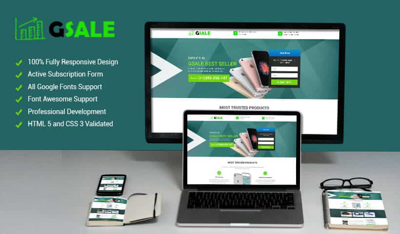 Sales page landing page design templates for your online internet
