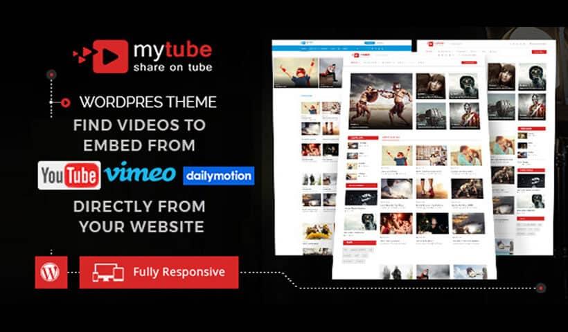 MyTube - Video WordPress Theme Website Template For Youtube, Vimeo