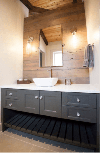 Bringing Barnwood into Your Bathroom | Reclaimed Wood Bathroom