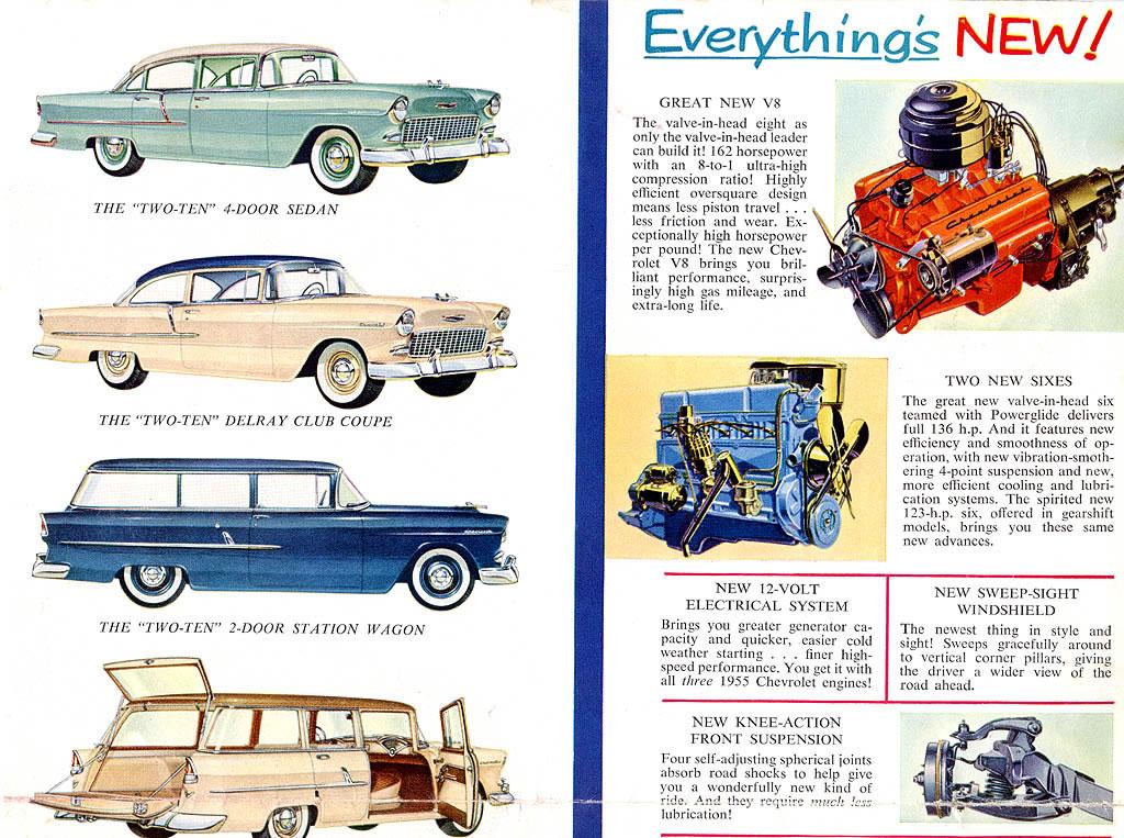 1955 Chevrolet Car Brochure / 1955 Chevrolet Brochure-Inside Page 3jpg