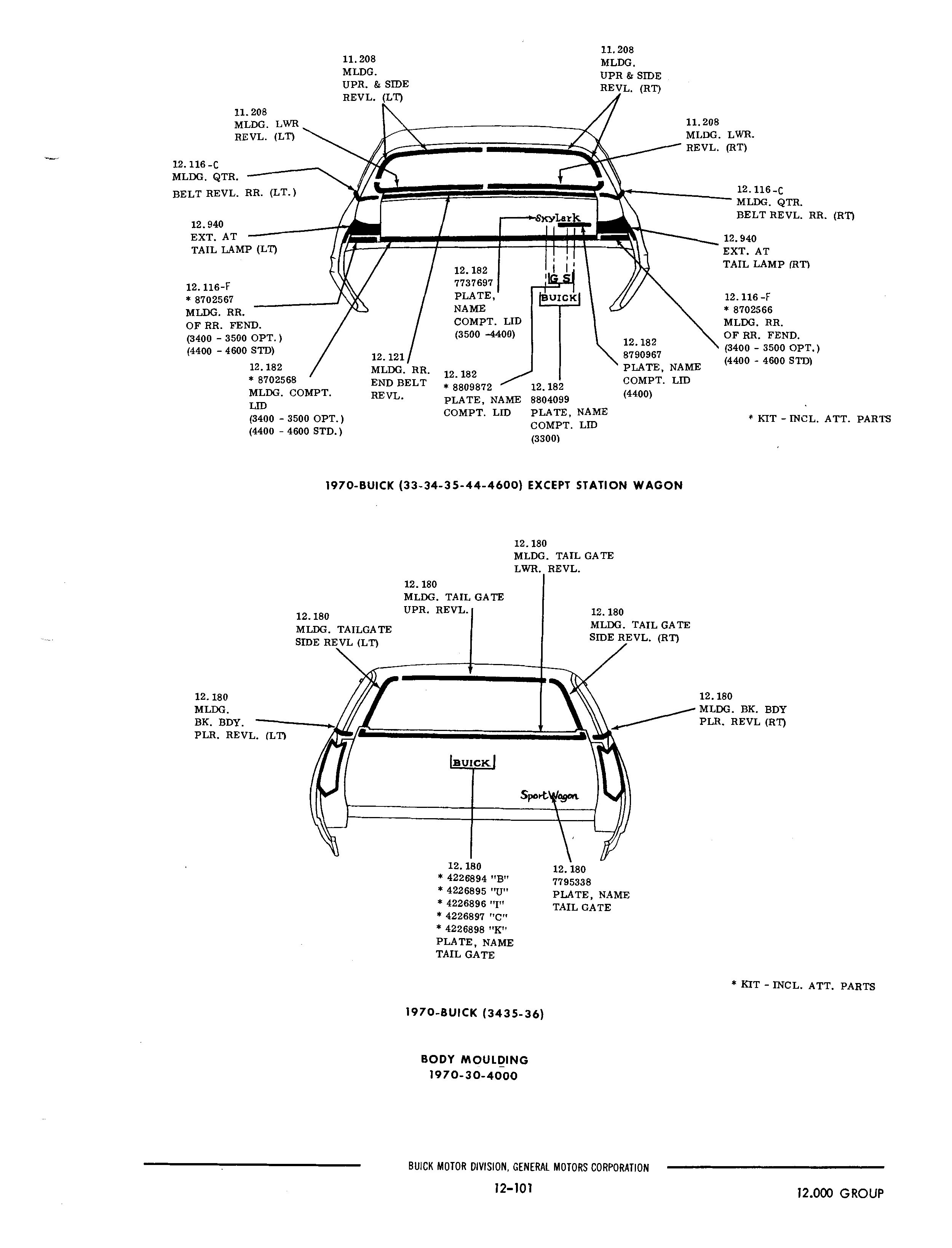 obsolete buick parts