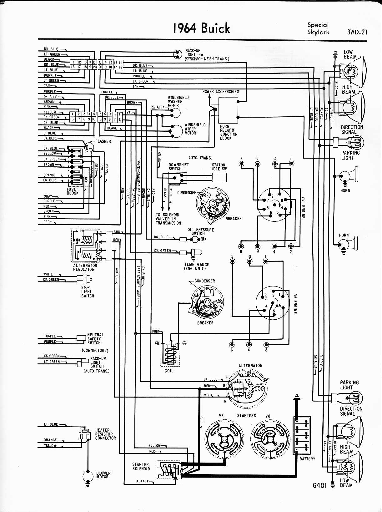 wiring diagram of 1964 buick riviera