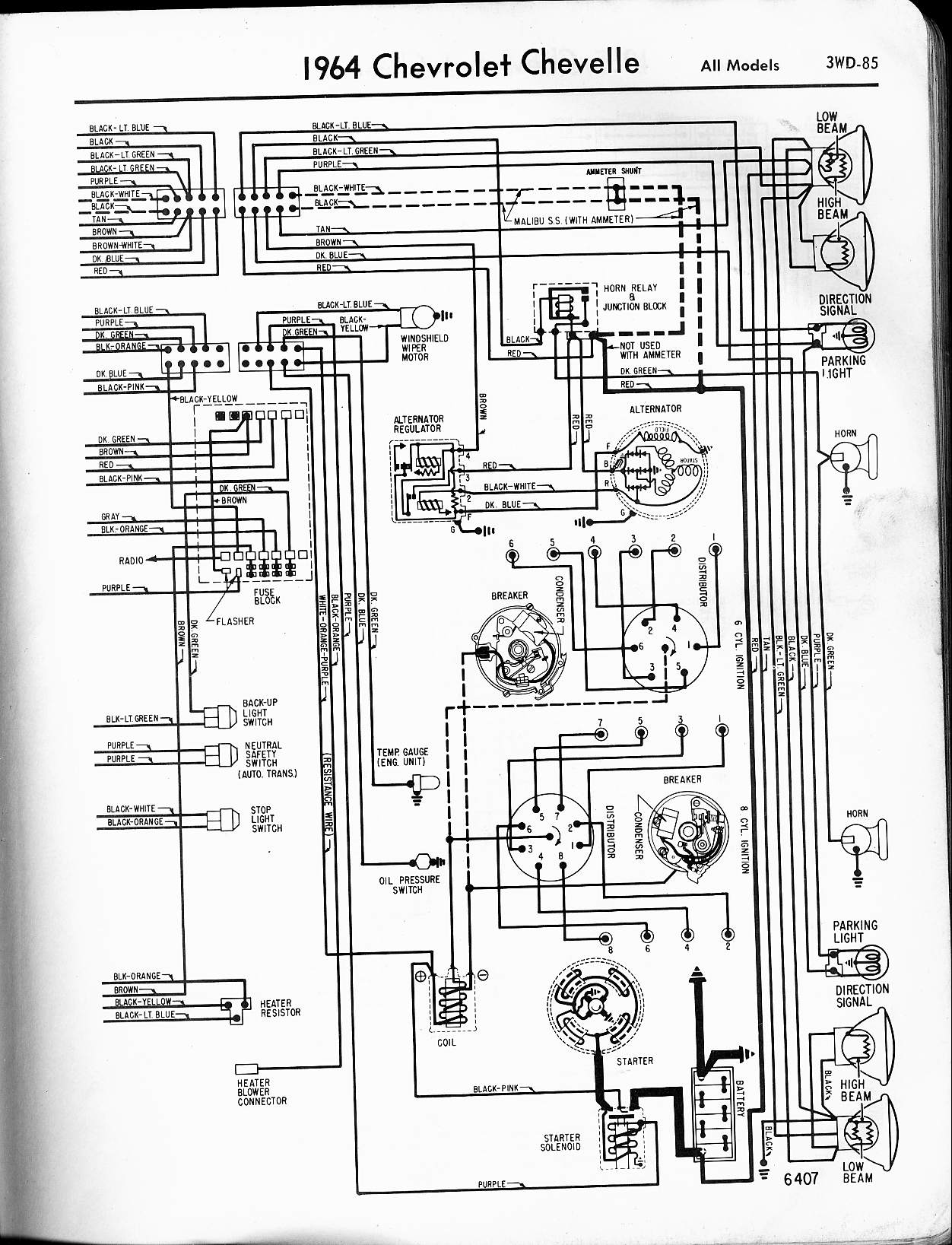 1965 chevrolet malibu wiring diagrams for