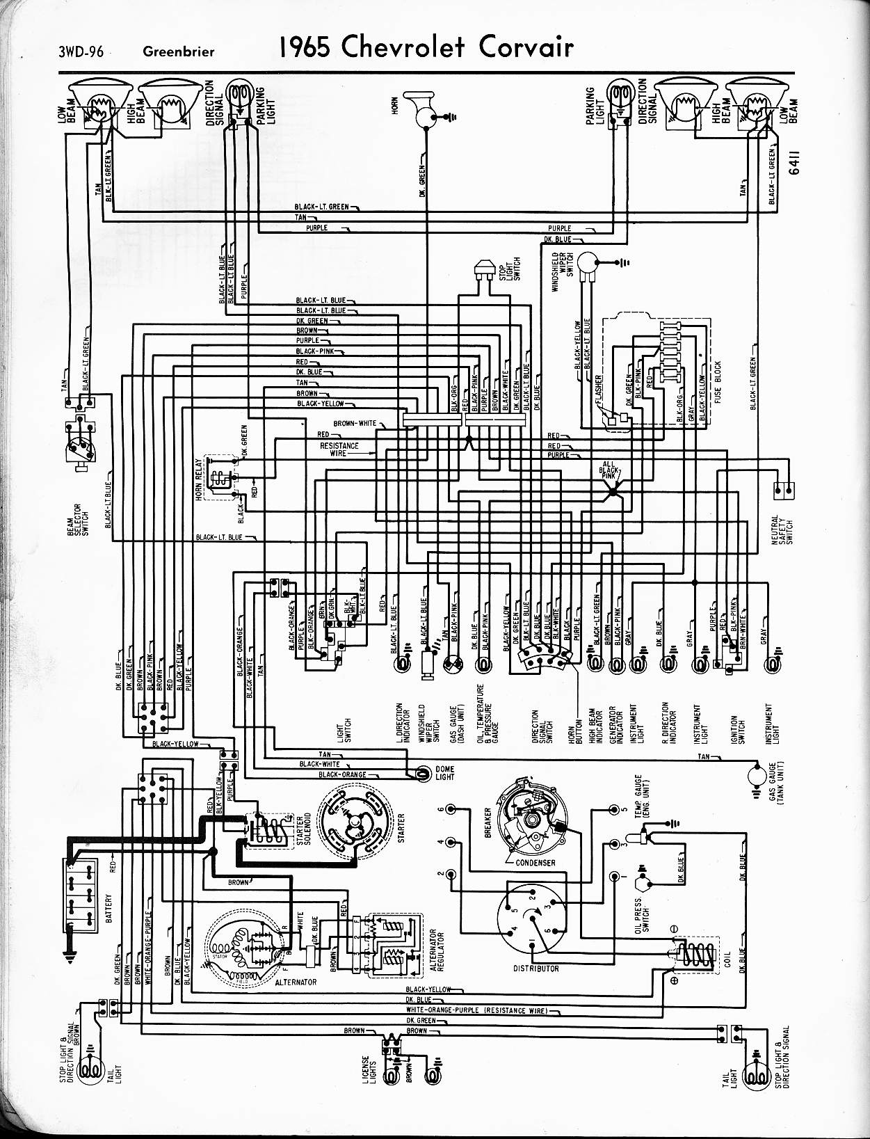 wiring diagram for 1960 chevrolet corvair all models