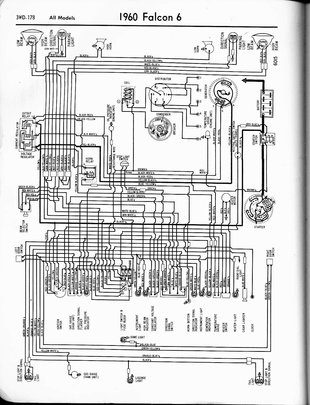 wiring diagrams of 1959 mercury v8 all models