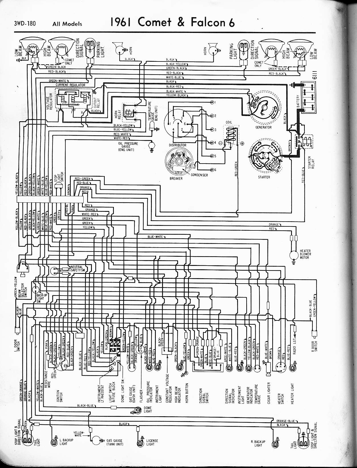 1961 ford falcon wiring diagram