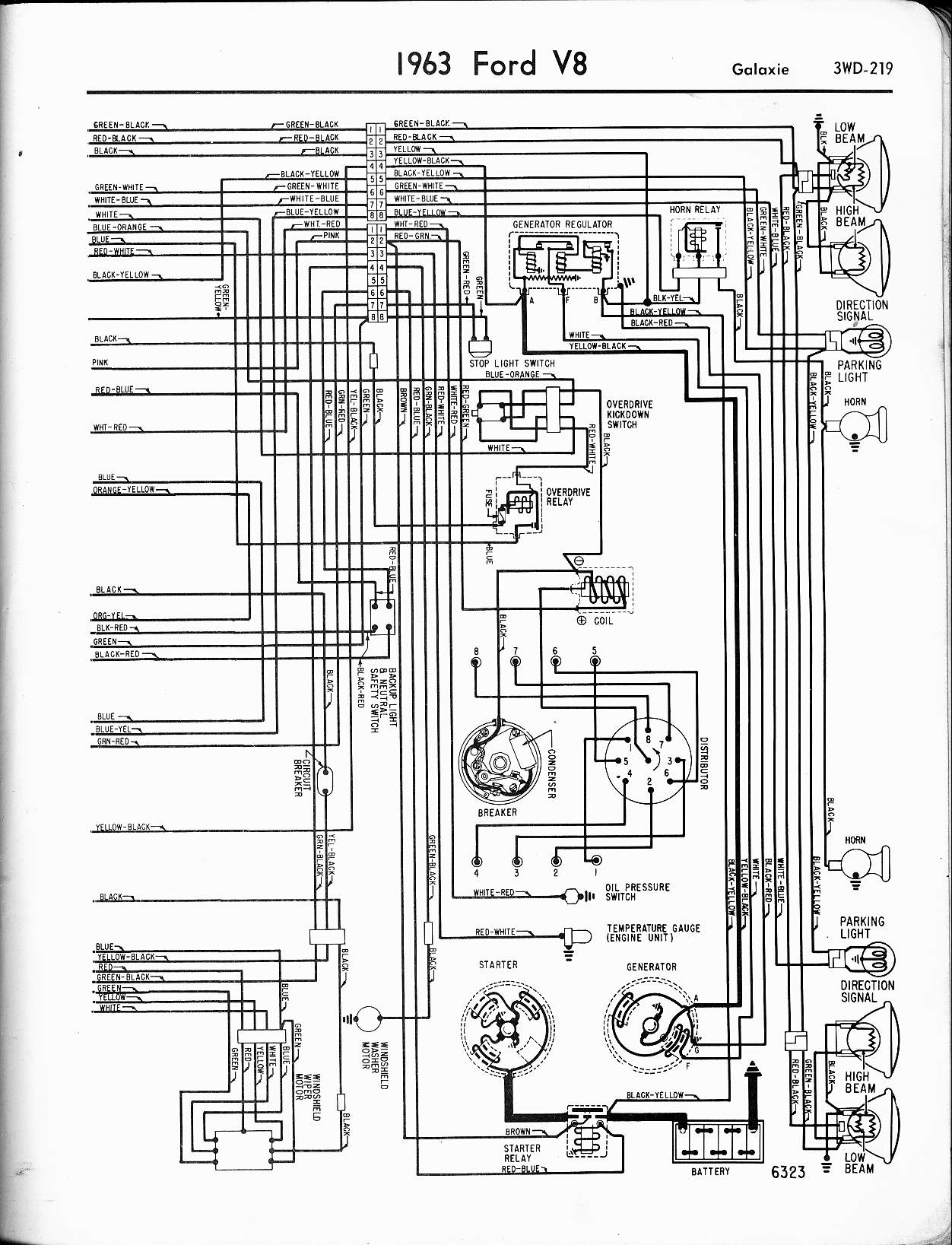 1963 ford galaxie wiring diagram charging