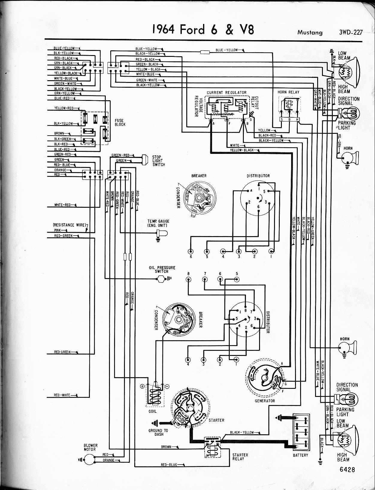 ford 6 and v8 mustang part 1 wiring image about wiring diagram