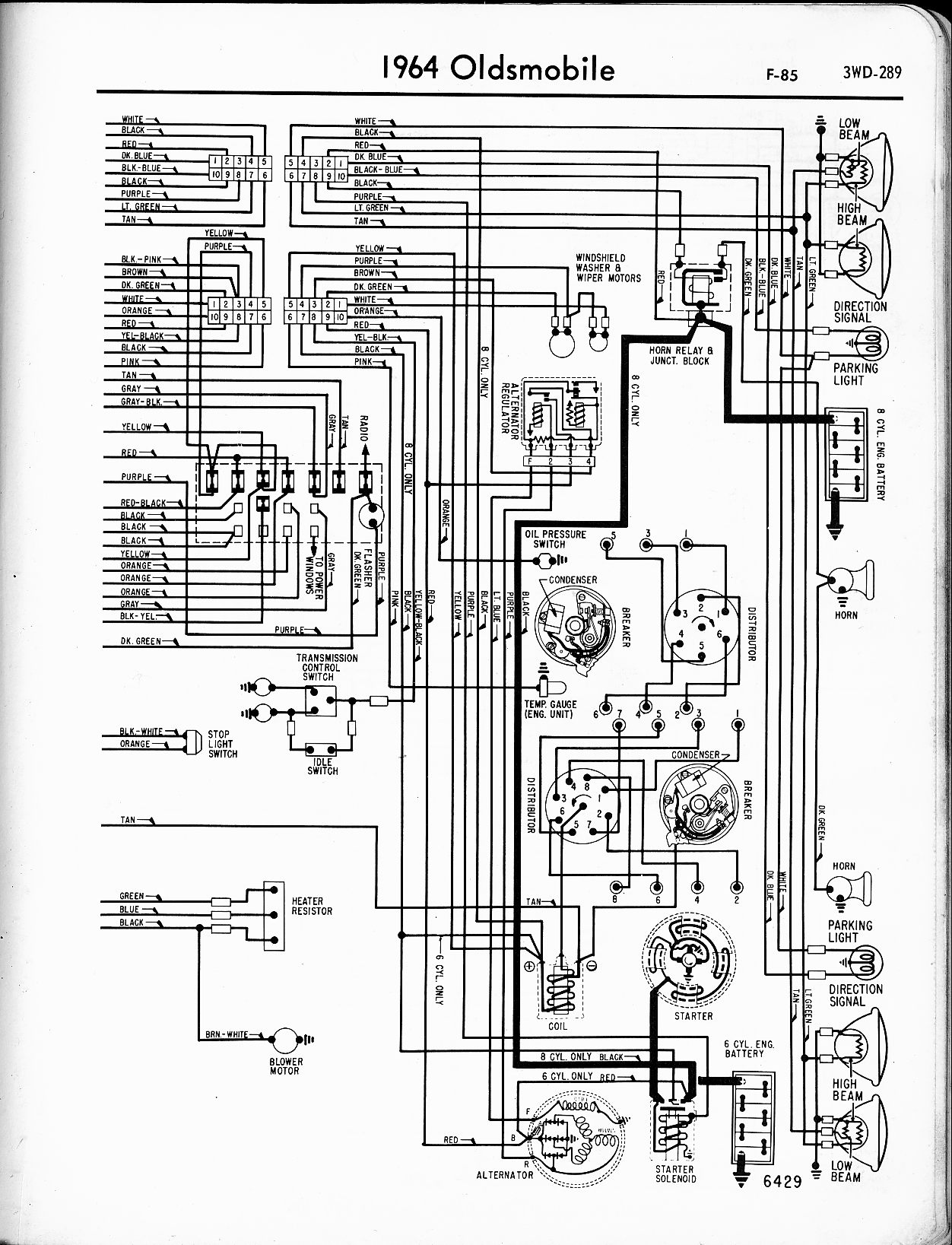 1957 oldsmobile engine wiring diagram