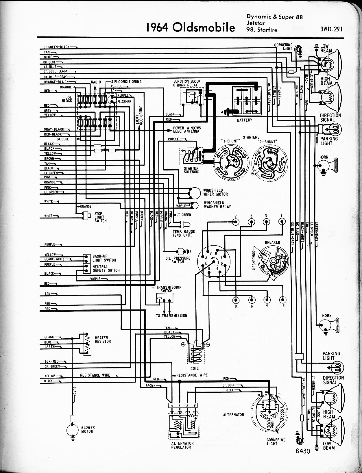 1967 oldsmobile cutlass wiring diagram