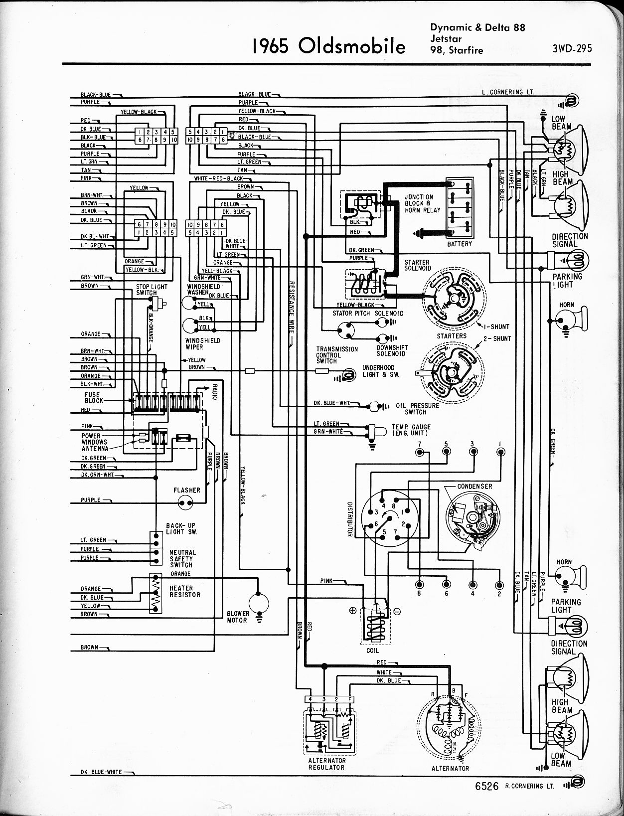 1966 oldsmobile cutlass wiring diagram