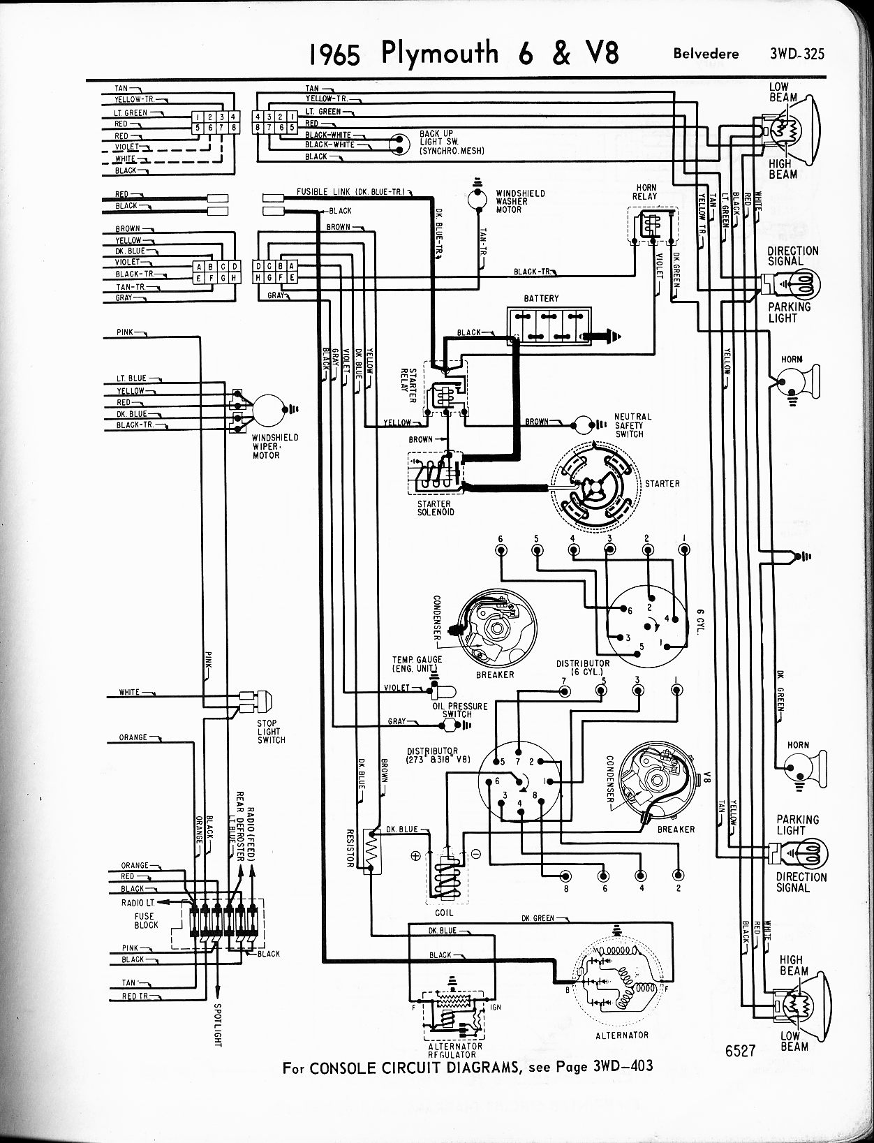 Wiring diagram for plymouth valiant dodge