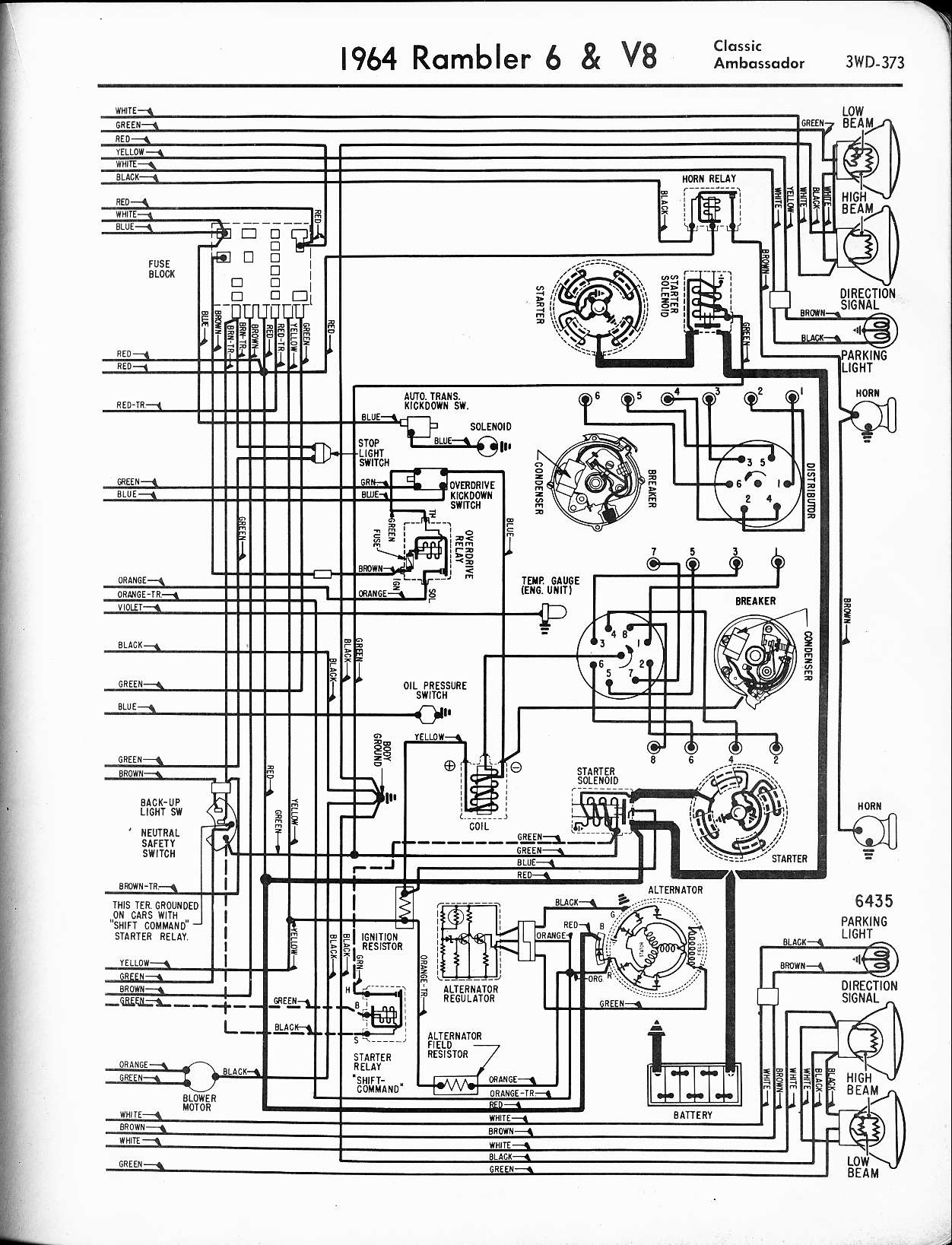 rambler wiring diagram likewise classic car wiring diagrams