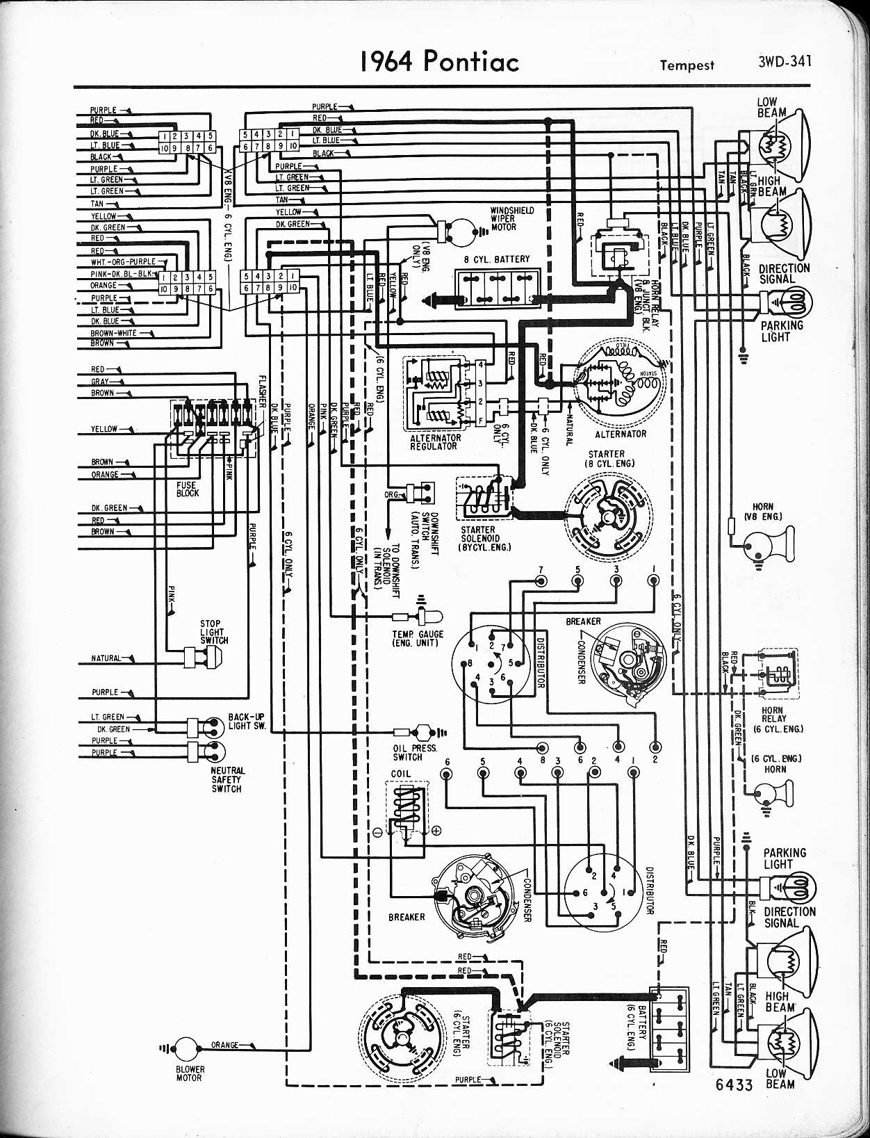 1966 pontiac lemans wiring diagram
