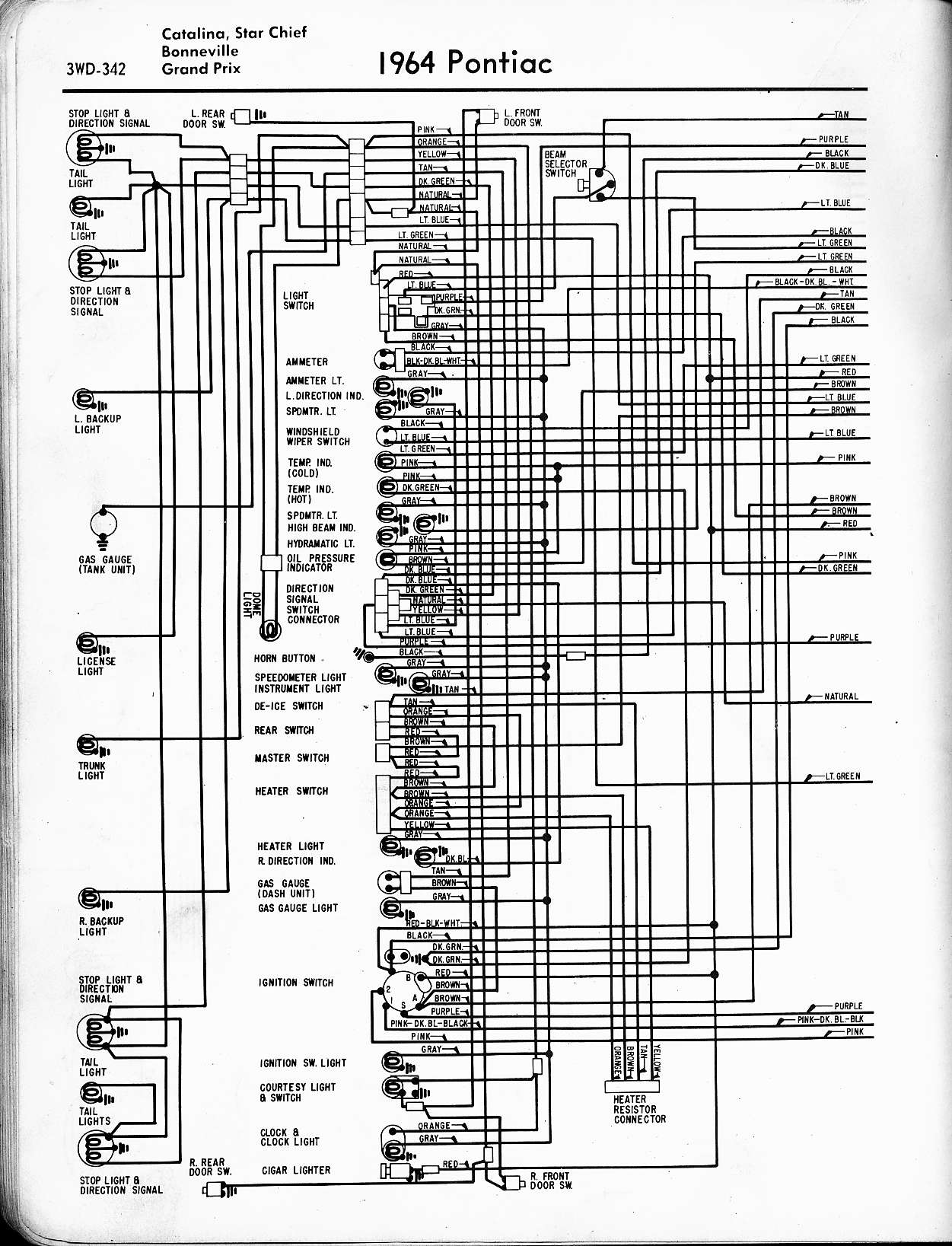 1967 gto wiring harness diagram