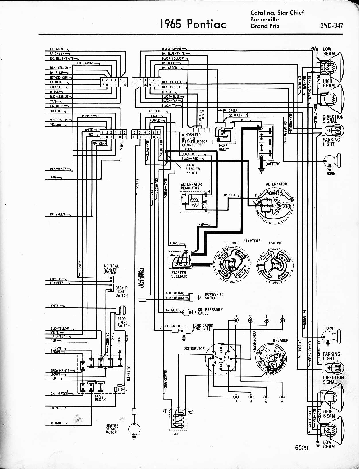 ignition system wiring diagram for 1965 gto