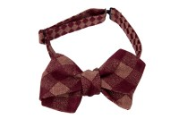 Bow Ties, burgundy and beige chequered, not only for ...