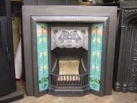 Original Art Nouveau Tiled Fireplace Insert - 220TI - Old ...