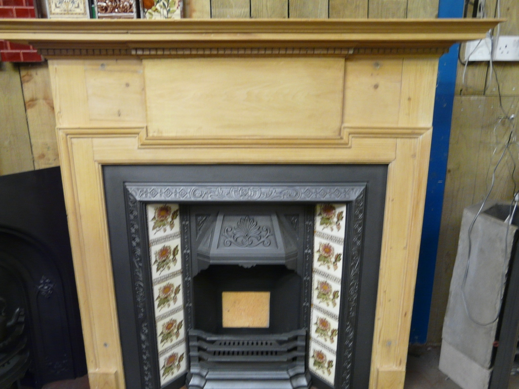 Reclaimed Edwardian Pine Fire Surround 193ws Old
