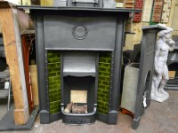 Original Edwardian Tiled Combination Fireplace