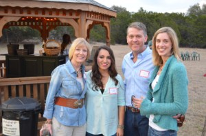 Alums Liz Danna, Samantha [Ruiz] Danna [2/22/14], and Jason & Susan Mercer [9/13/03] get acquainted.
