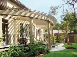 Small Of Pergola Attached To House