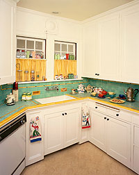 counter points kitchen countertop material A less common countertop material tile allowed for great expression and color combinations such
