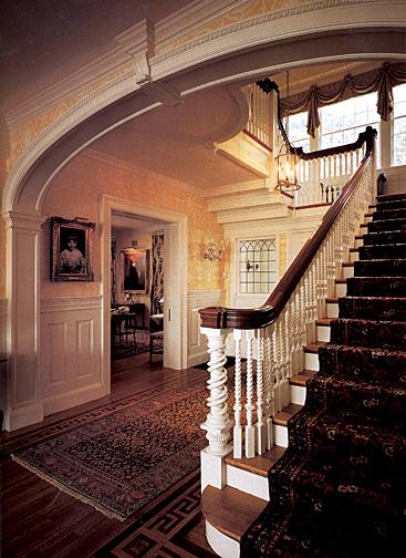 Black Beadboard Wallpaper Colonial Revival Interior Design Restoration Amp Design