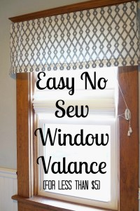 Easy DIY No Sew Window Valance