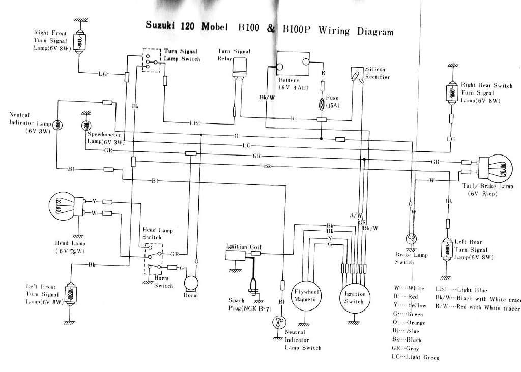 suzuki b100 wiring diagram