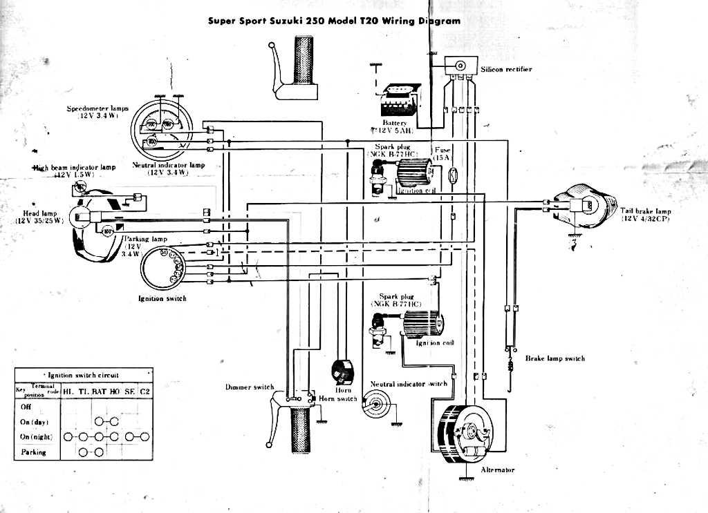 suzuki t20 wiring diagram