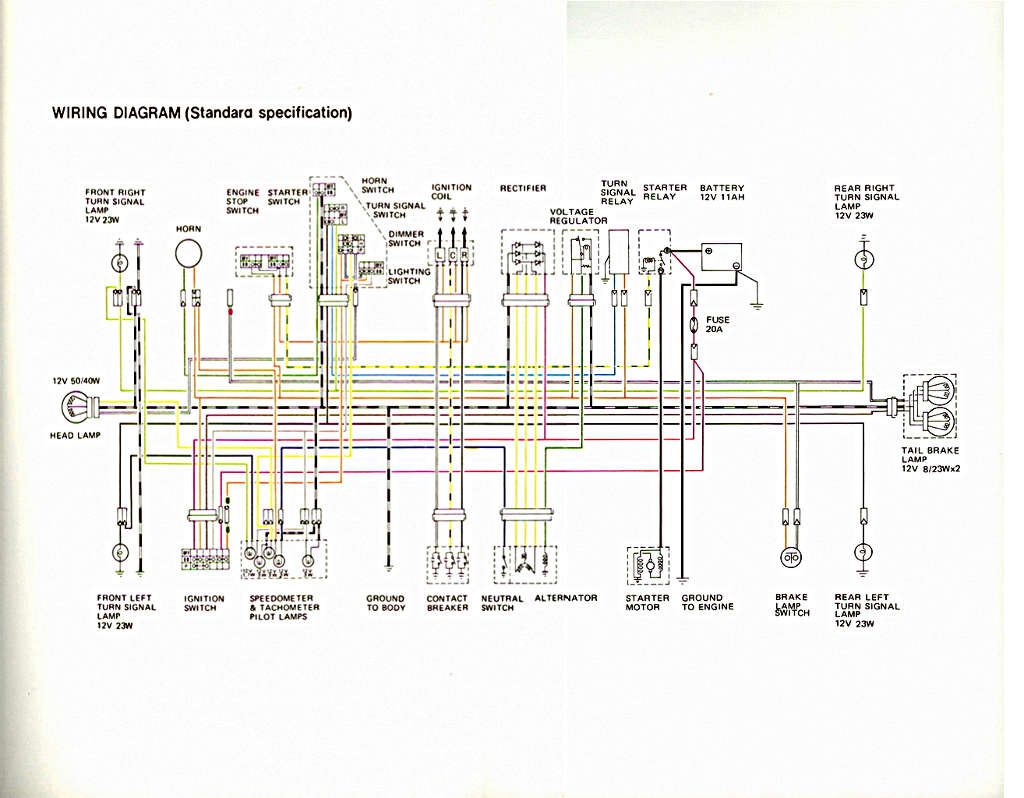 Tl1000s Wiring Diagram Completed Diagrams For Standard Switch Suzuki Gsxr 1000