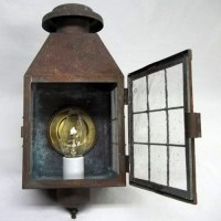 Single brass outside wall sconce - Old Lamps & Things, LLC