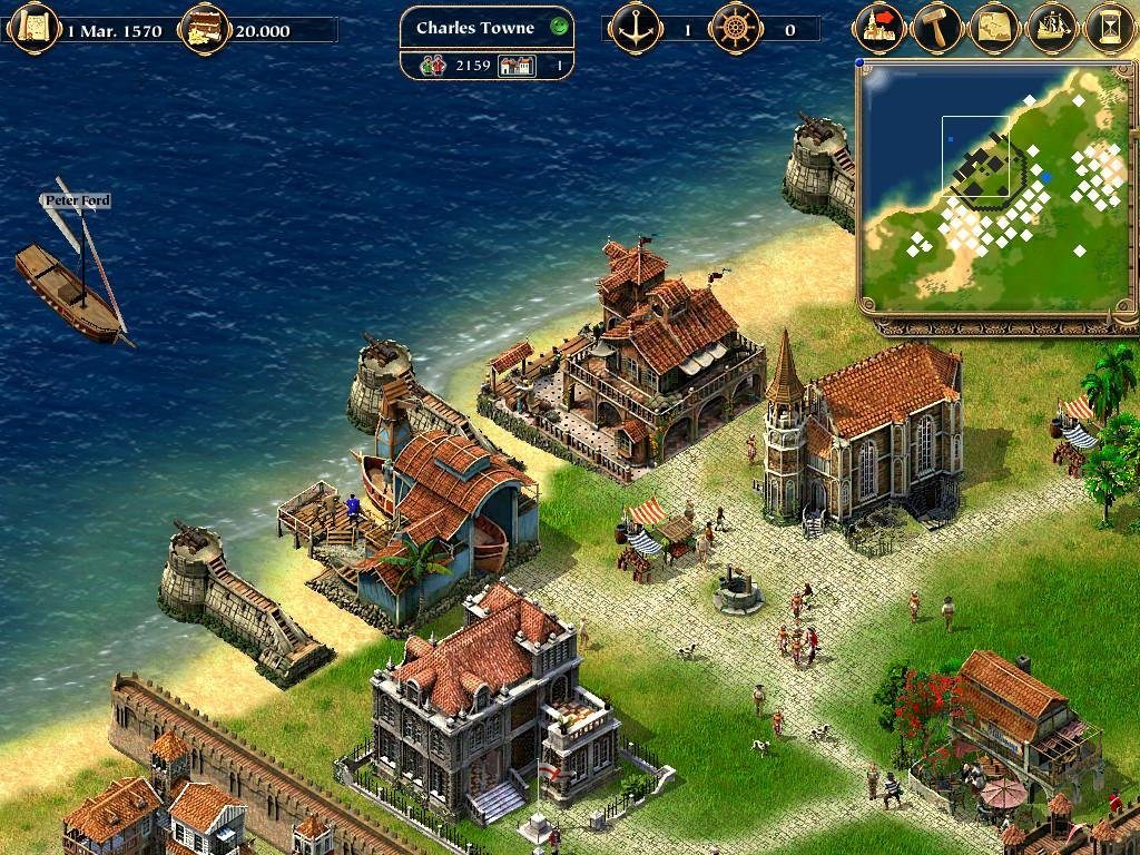 3d Money Wallpaper Port Royale 2003 Pc Review And Full Download Old Pc