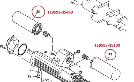 yanmar fuel filter 41650 501140