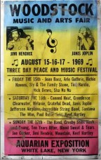 Cartel de Woodstock. Foto: Pinterest