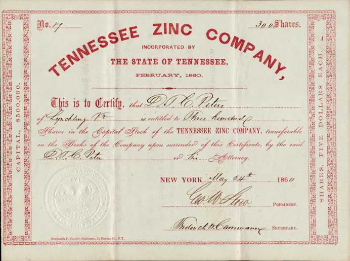 Stock Certificates From Other States - Company Share Certificates
