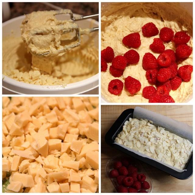ciasto z malinami i migdalami