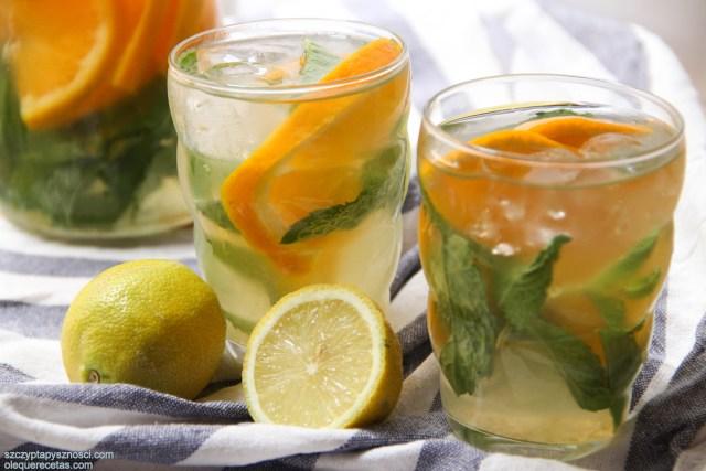 Bebida refrescante con jengibre