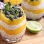 Pudding de semillas de chia y mango