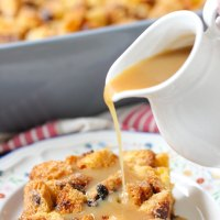 Panettone Bread Pudding With a Creamy Rum Syrup