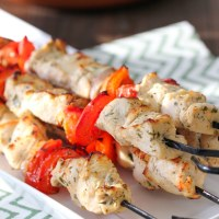 Broiled Chicken and Vegetable Kebabs
