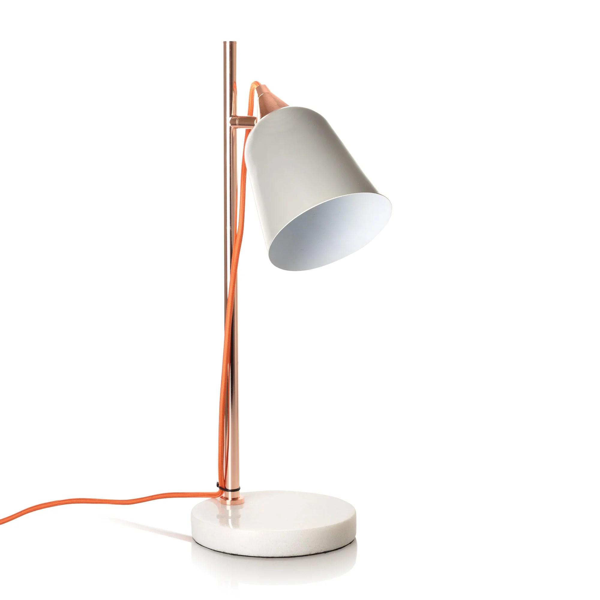 Copper Table Lamp Uk. dar lighting frederick adjustable