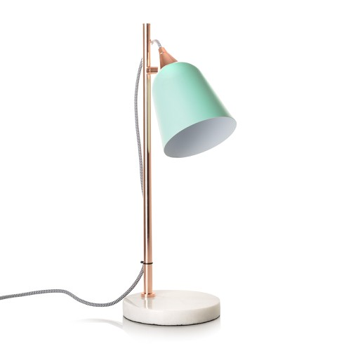 Mint Table Lamp with Marble Base