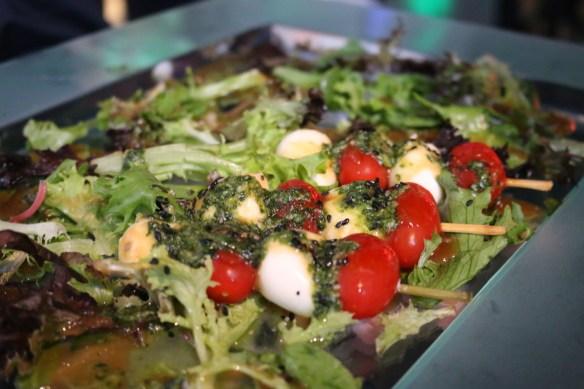 Tetsujin - Tomato, basil and bocconcini skewers