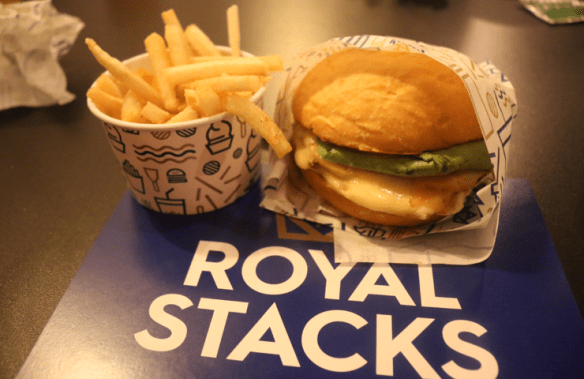 Royal Stacks - Burger and fries